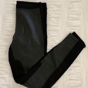 Sanctuary black vegan leather panel pants